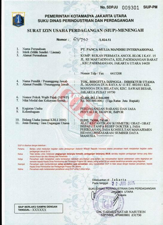 contoh surat izin usaha perdagangan siup motorcycle