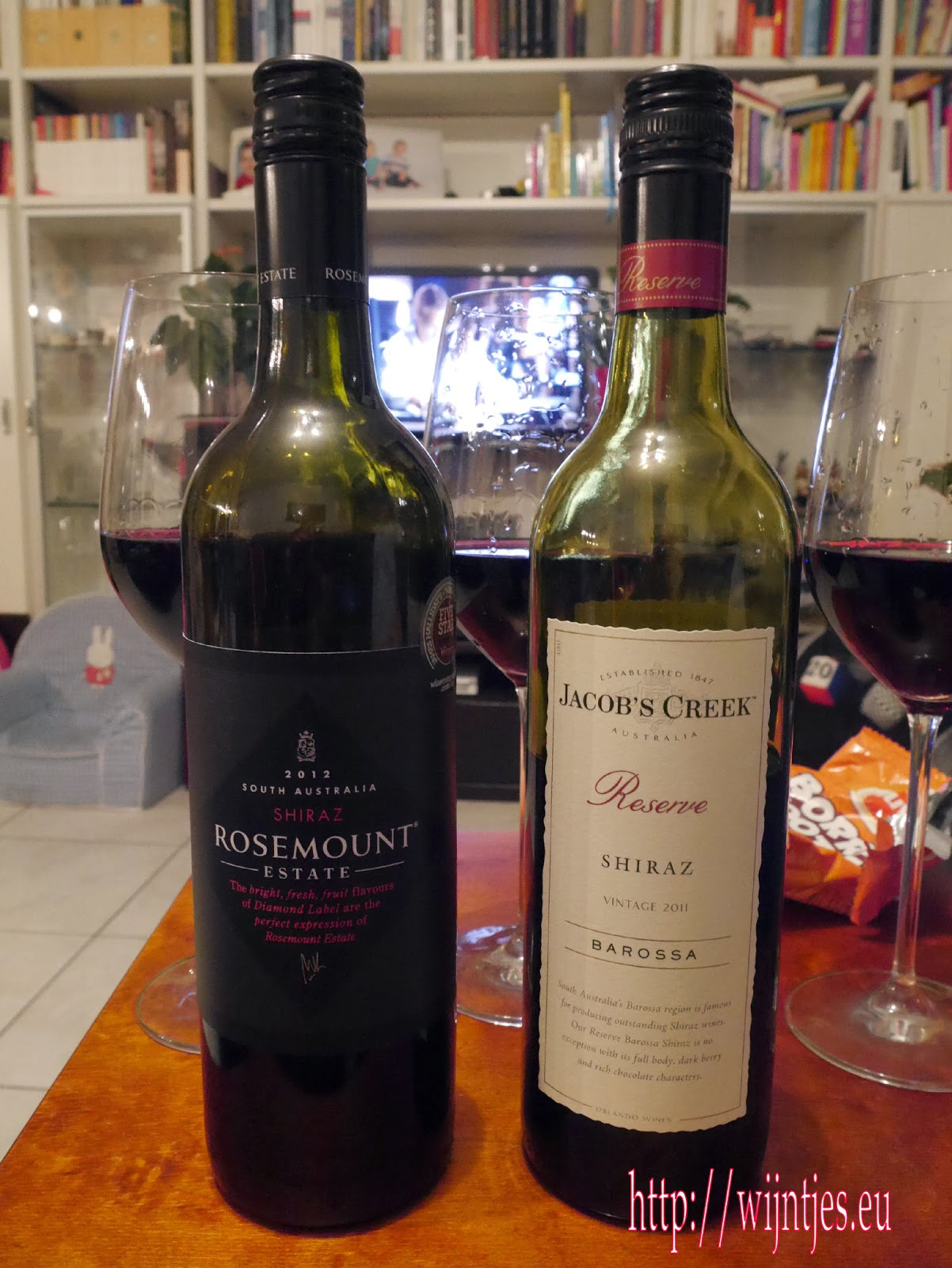 Rosemount South Australia Shiraz 2012, Jacobs Creek Barossa Shiraz 2009