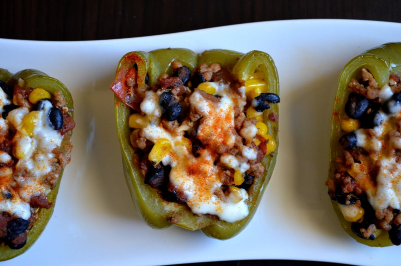 For the Love of Dessert: Sante Fe Stuffed Peppers
