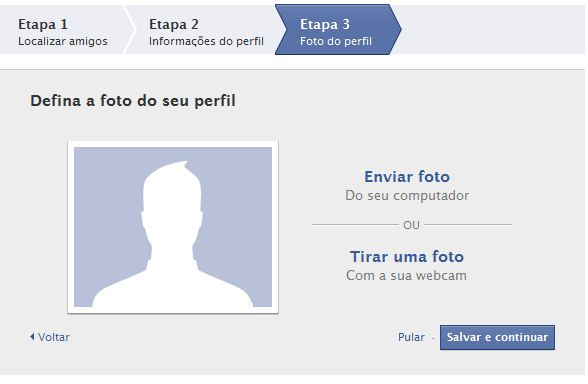 Facebook - Tela de Foto
