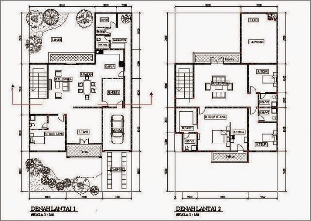 Desain Denah Rumah Minimalis Type 90 Terbaru