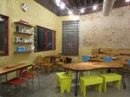 sillas y mesas para cafetería