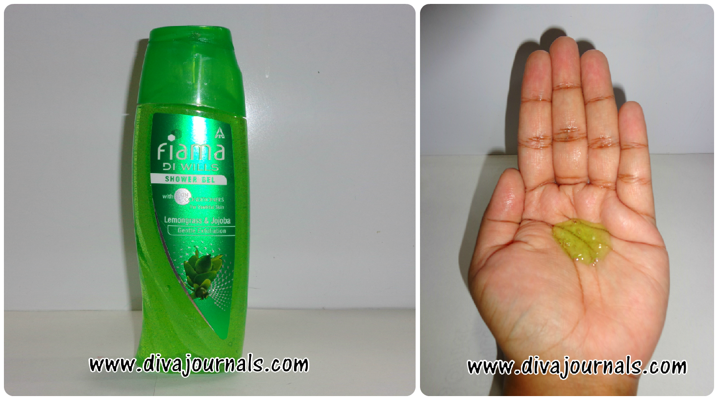 Fiama Di Wills Shower Gel - Exfoliating Beads for Revitalizing Care (Green Bottle)