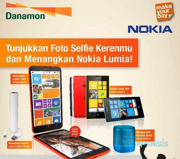 Kontes Foto Selfie Berhadiah Utama Nokia Lumia 1320