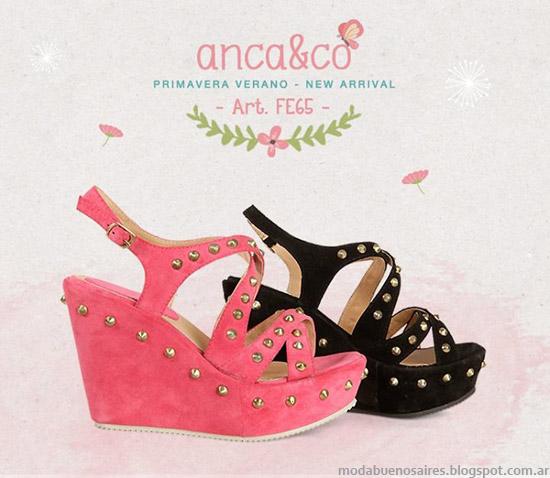 Sandalias 2014 Anca & Co primavera verano 2014. Moda sandalias 2014.
