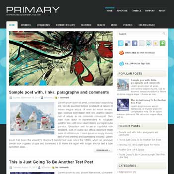 Primary blog template. magazine blogger template style. magazine style template blogspot