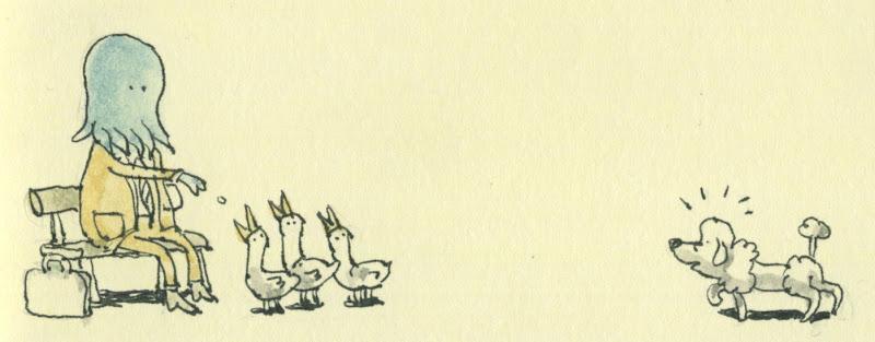cthulhu feeding ducks