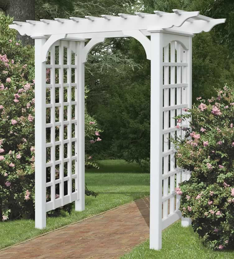 Garden arbor gate arbor decal galleries for Plans for arbors
