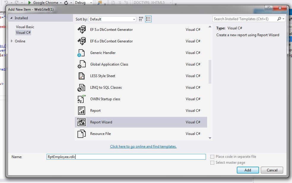 Asp net: Create RDLC report using Store procedure - ASPMANTRA   Asp