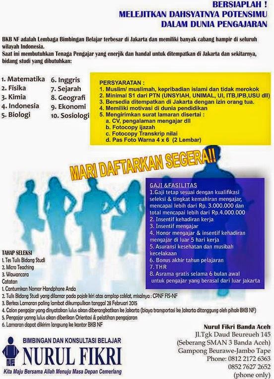 Lowongan Kerja Nuruk Fikri Banda Aceh