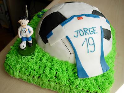 Tarta fondant futbol Zaragoza