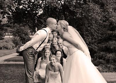 Wedding Kiss Group Shot