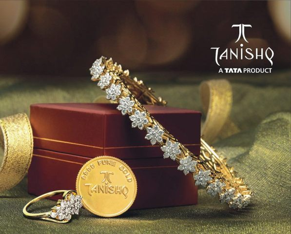 Gold And Diamond Jewellery Designs Tanishq Diamond Bangle