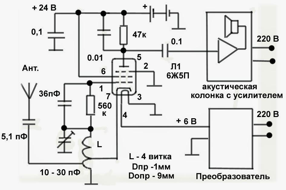 Схема радиоприемника фм