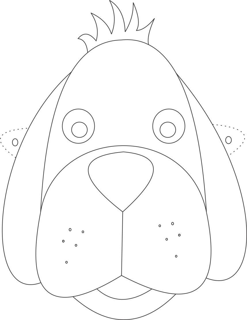 dog mask template for kids 10 m scaras de animais para imprimir blog cantinho