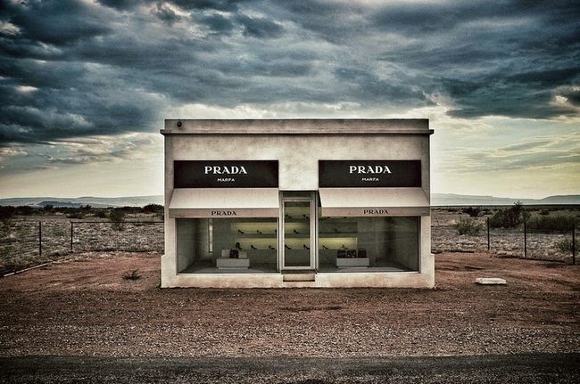 Prada Marfa, Texas, Art project by Michael Elmgreen and Ingar Dragset