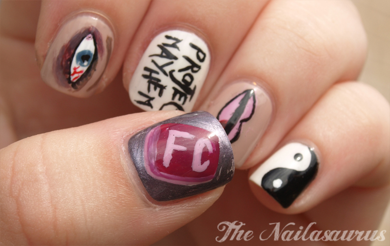 ... The Movies: Fight Club Nail Art | The Nailasaurus | UK Nail Art Blog