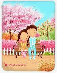 Jual Selimut Kendra Soft Panel Blanket Lovely Garden