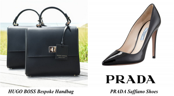 Queen Letizia's Hugo Boss Bespoke Handbag And Prada Saffiano Shoes