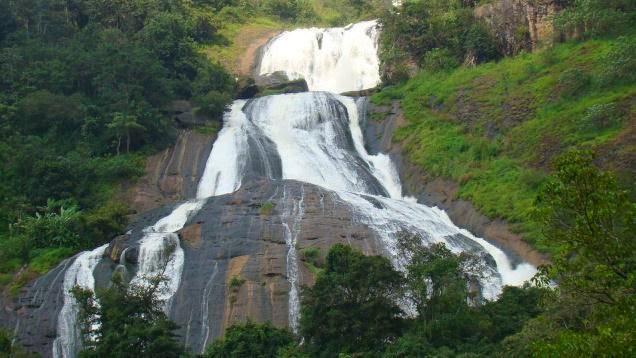 Karithode waterfalls near Nedumkandam in Idukki district