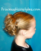 cute updo hairstyle