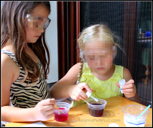 girls doing science experiments