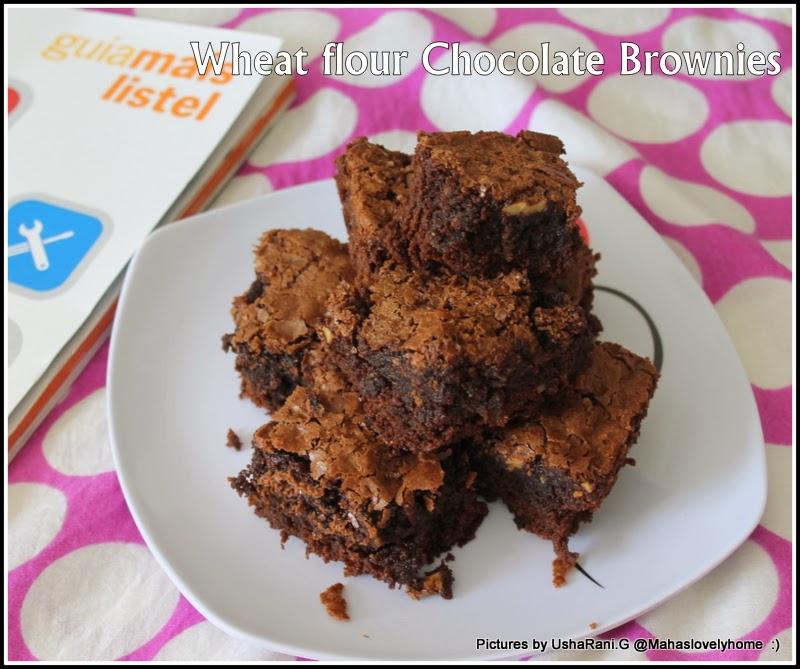 Wheat flour chocolate Walnut Brownies | Chocolate brownies with Cocoa ...