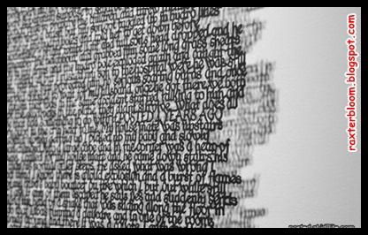 Desain Seni Potongan Huruf yang Sangat Menakjubkan - raxterbloom.blogspot.com