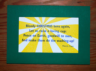 Letterpress Christmas card from Semple Press