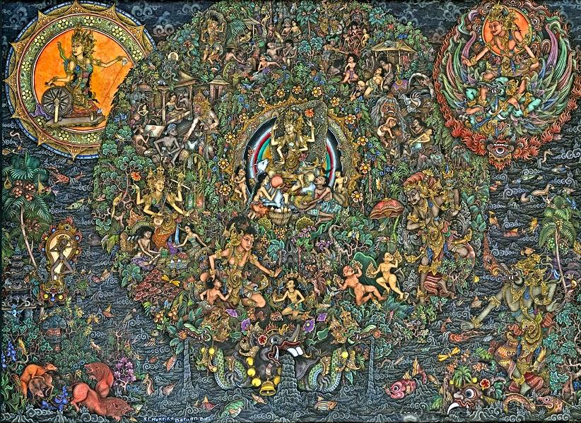 Contoh lukisan Batuan