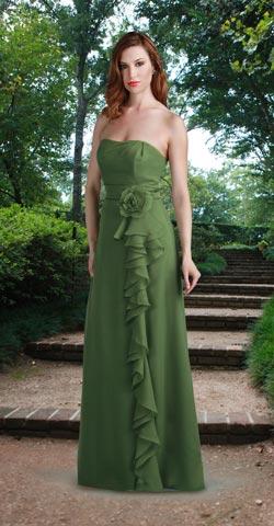 Vestidos de madrina de boda color verde
