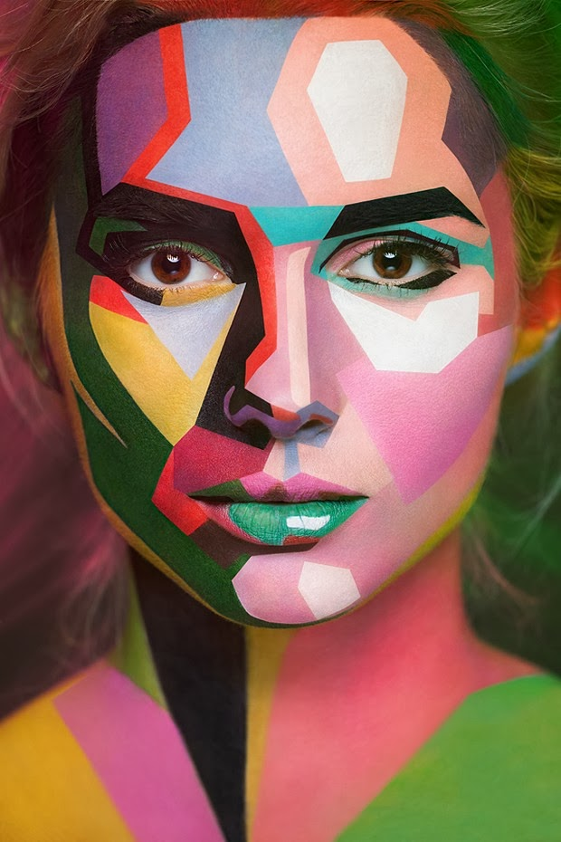 Models Faces Transformed Into Surreal 2D Paintings