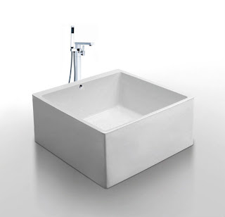 Tubs of tomorrow freestanding modern acrylic bathtub for Bathtub shapes and sizes
