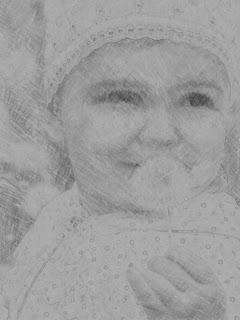 портрет, карандашный рисунок, фотошоп