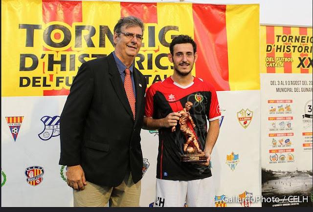 javi perez trofeo mvp torneig d'historics del futbol catala