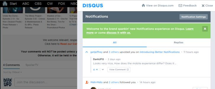 Disqus - New Notifications System
