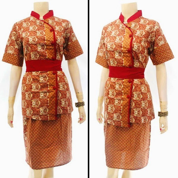 DB3815 Model Baju Dress Batik Modern Terbaru 2014