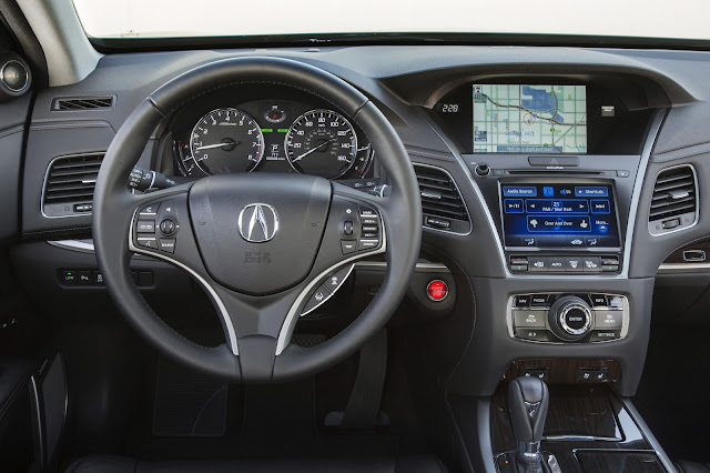 Interior view of 2014 Acura RLX