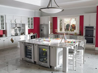 classic kitchen in white ventilation system