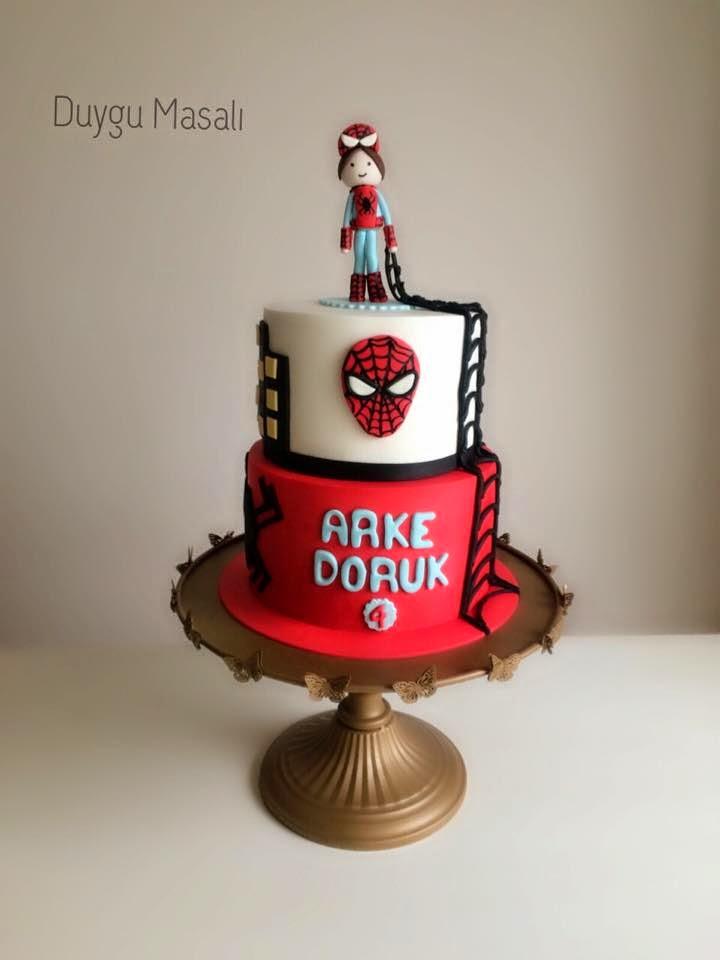 örümcek adam butik pasta