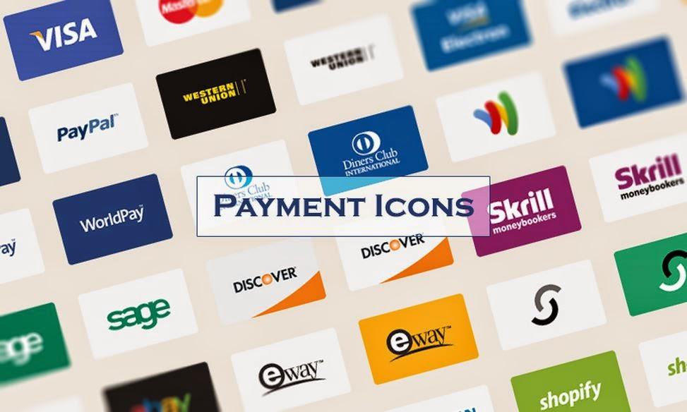 Eticaret Siteleri İçin Ücretsiz Vektörel Ödeme İkonları İndir