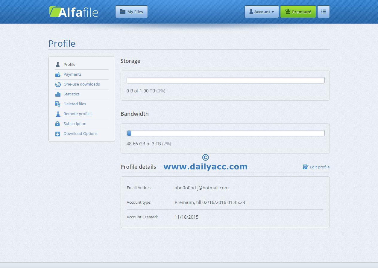 Depfile premium account 2014 - Depfile Premium Link Download