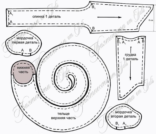 Как сделать змею из ткани своими руками схемы 39