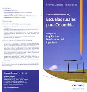 Premio Corona Hábitat Escuelas rurales Colombia