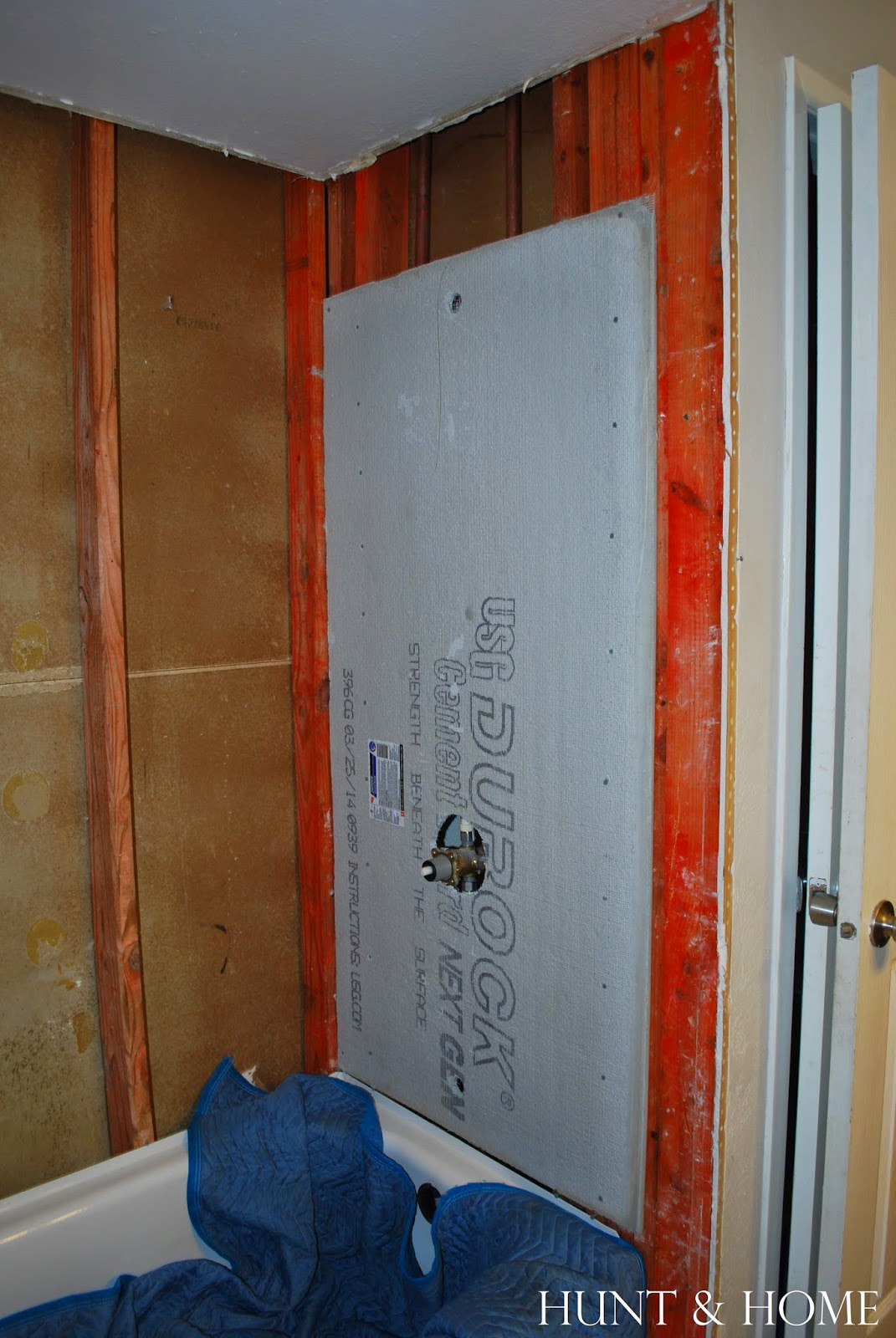 how to install cement board in shower
