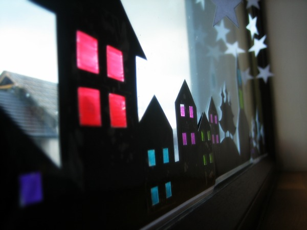 Holiday Window with stained glass - Our Handmade Home