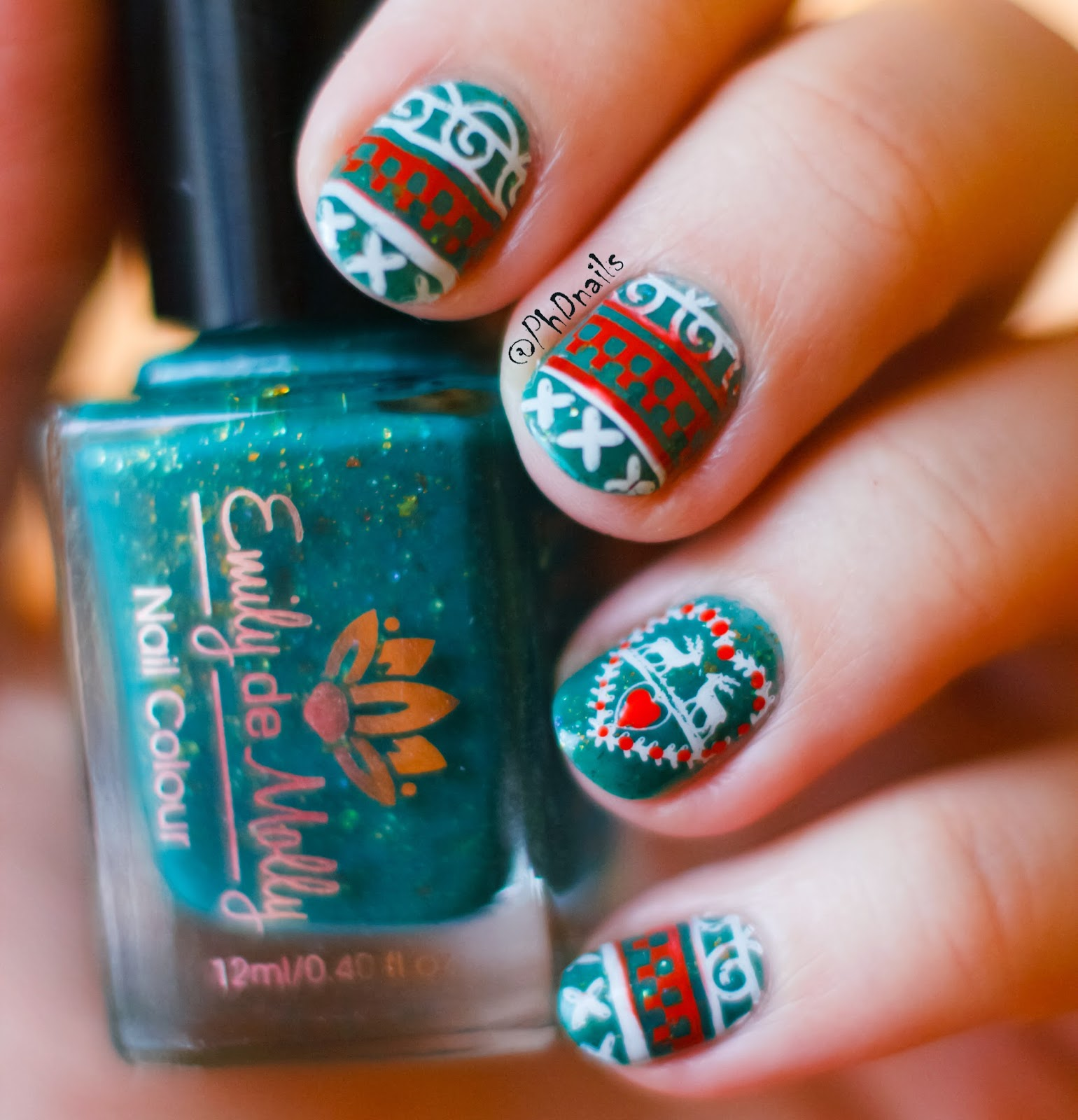 Phd Nails Challenge Your Nail Art Ugly Christmas Sweater Stamping
