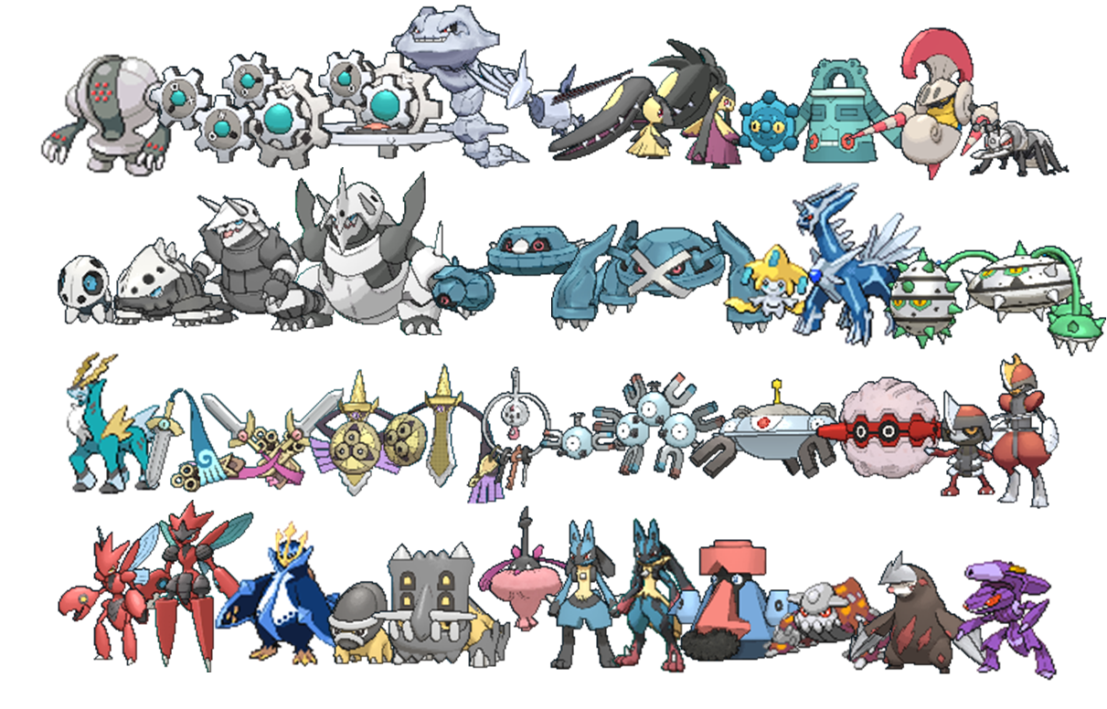 Uncategorized Steel Pokemon whats your favorite pokemon type neogaf