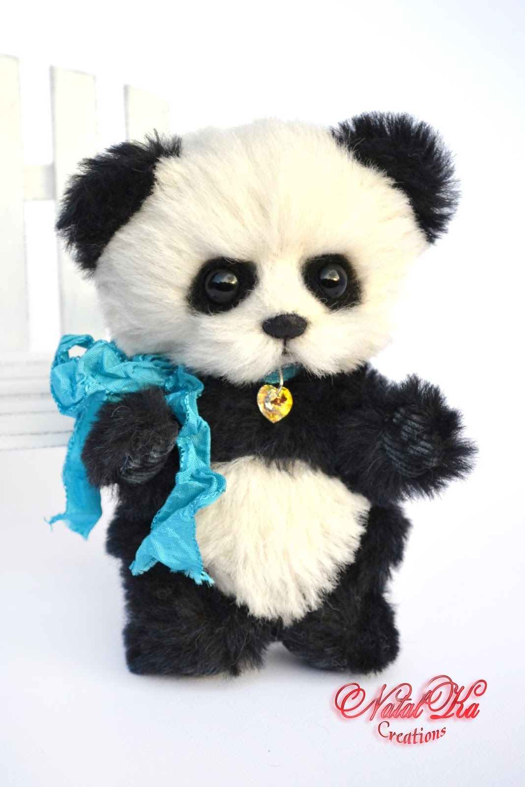 Artist teddy bear, artist bear, panda, handmade, ooak, alpaca, jointed, teddy, teddies by NatalKa Creations. Авторский мишка тедди, медведь тедди, панда, альпака, ручная работа от NatalKa Creations.