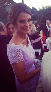 Nequi Galotti con vestido lila de Claudio Cosano. No era blanco.